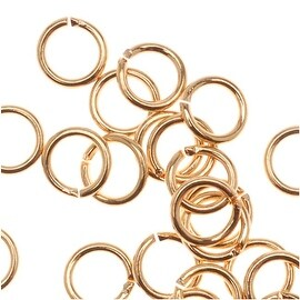 22K Gold Plated Open Jump Rings 4mm 22 Gauge (50)