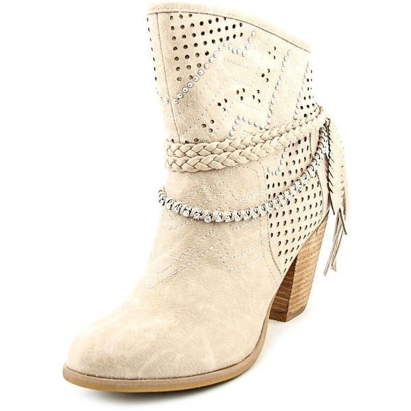 Not Rated Adylene Women Round Toe Canvas Tan Mid Calf Boot