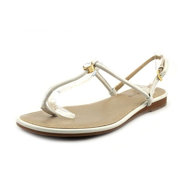Bandolino Depew Women Open Toe Synthetic White Thong Sandal
