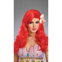Red Mermaid Wig - One Size Fits most