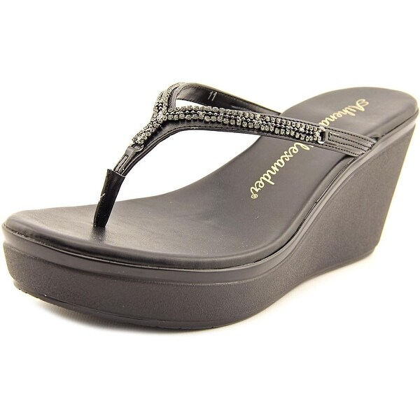 Athena Alexander Astra Women Open Toe Synthetic Wedge Sandal