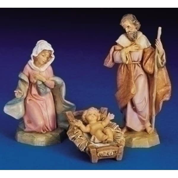 """3-Piece Fontanini 5"""" Holy Family Jesus, Mary & Joseph Nativity Set #71503"""
