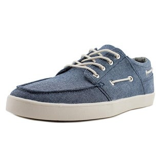 Crevo Covert Men  Moc Toe Canvas  Boat Shoe