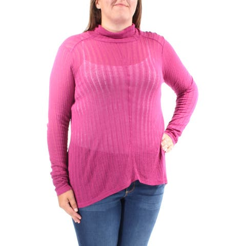LUCKY BRAND Womens Purple Long Sleeve Turtle Neck Top Size XL