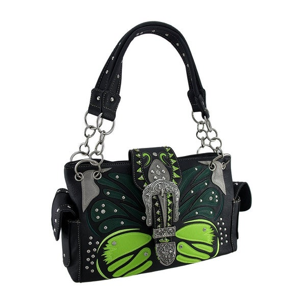 aaf2fa2fb8 Shop Tribal Butterfly Floral Cross Rhinestone Buckle Concealed Carry ...
