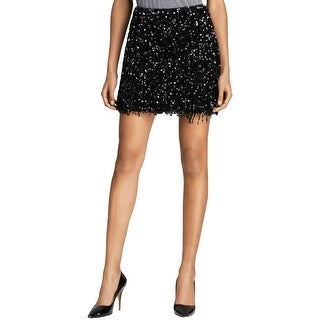 Kate Spade Womens Robbie A-Line Skirt Sequined Fringe - 2