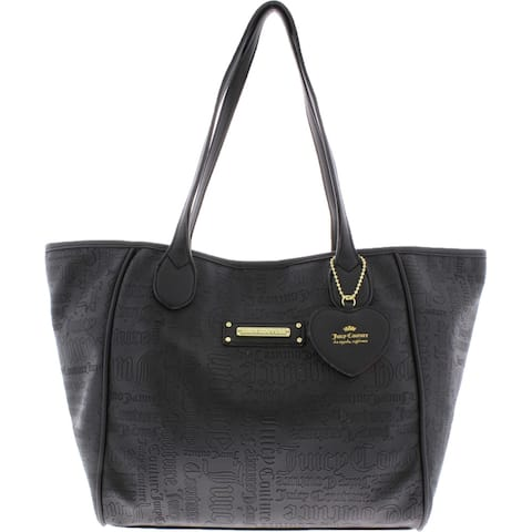 Juicy Couture Love Me Not Women's Faux Leather Printed Large Tote Handbag