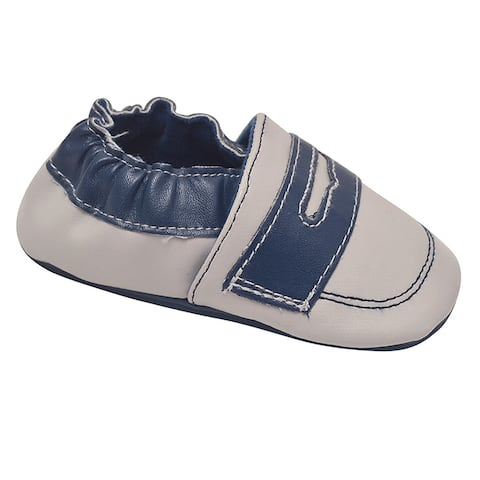 juDanzy Unisex Blue Gray Penny Loafer Trim Classic Casual Shoes