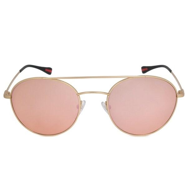 3c3fd9847fe98 Shop Prada Aviator Sunglasses PS51SS 1BK6Q2 51 - Free Shipping Today ...