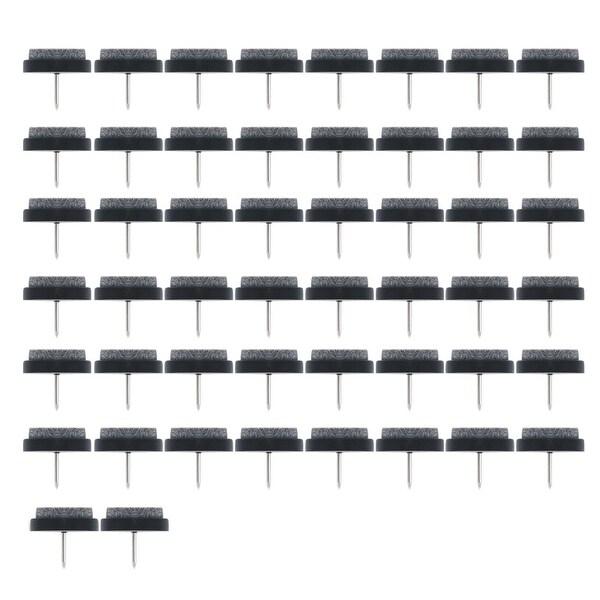 Felt Pad Nails Glides Floor Protector Anti-scratch Desk Leg 28mm Dia 50pcs
