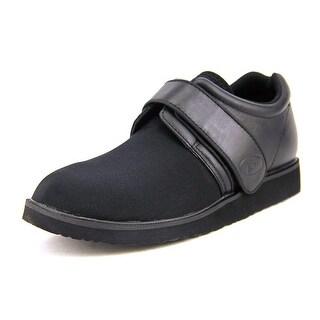 Propet Pedwalker3 Men Round Toe Leather Black Sneakers