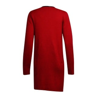Charter Club Women's Faux Leather Trim Zip Knit Cardigan