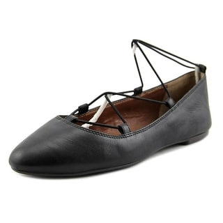 Lucky Brand Aviee Women Round Toe Leather Black Ballet Flats