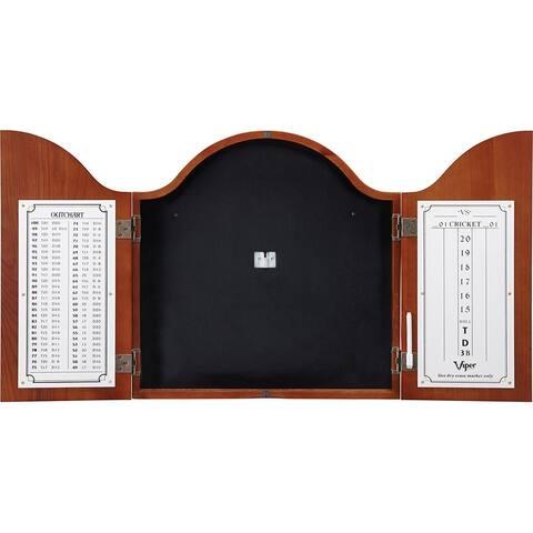 Viper Cambridge Cinnamon Finish Dartboard Cabinet / 40-0256