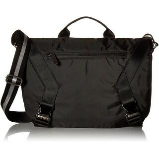 2(X)IST Black Nylon Flap Tech Men's Medium Messenger Shoulder Bag