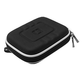 GPS Double Zip Up Carrying Case Bag Black w Carabiner Hook