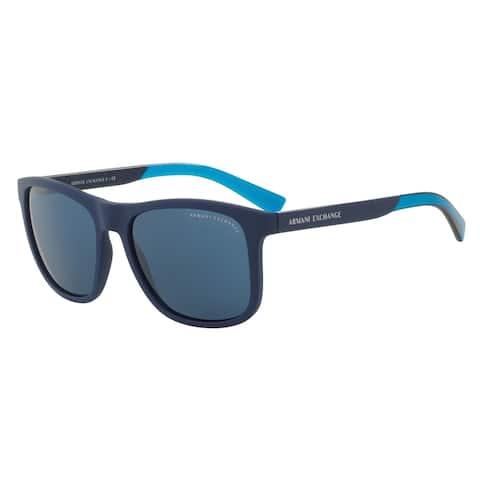 Armani Exchange AX4049SF 818380 57 Matte Blue Man Square Sunglasses