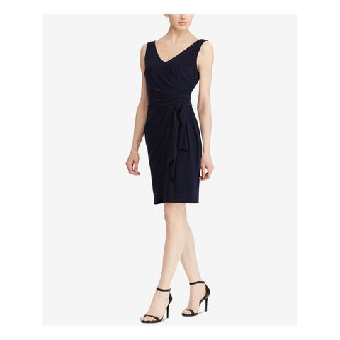 RALPH LAUREN Navy Sleeveless Above The Knee Dress Size 14