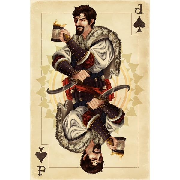 Jack of Spades - Playing Card - LP Artwork (Poker Playing Cards Deck)
