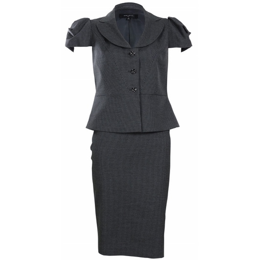 Shop Nine West Women S Urban Summer Pinstripe Skirt Suit Charcoal