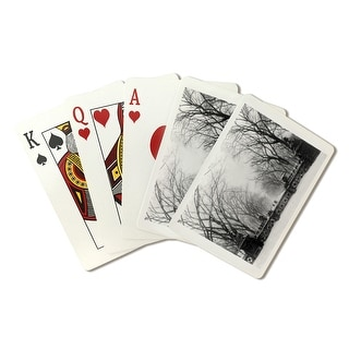 Trees in Central Park New York City - Vintage Photograph (Playing Card Deck - 52 Card Poker Size with Jokers)