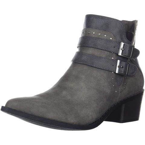 Mia Womens Henrietta Pointed Toe Ankle Cowboy Boots