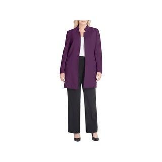 Tahari ASL Womens Plus Open-Front Blazer Suit Separate Office