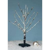 Amusements Battery Operated LED Lighted Warm White Snowy Christmas Twig Tree - CLEAR