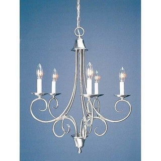 Volume Lighting V2185 Troy 5 Light 1 Tier Chandelier
