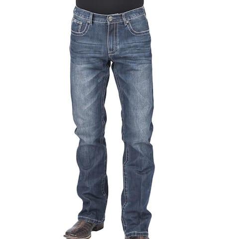 Stetson Western Jeans Men Bootcut Low Rise Blue