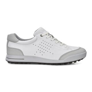 Ecco Mens Golf Street Retro White/Concrete 42 Euro 8-8.5 Shoes