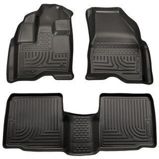 Husky Weatherbeater 2011-2014 Ford Explorer Black Front & Rear Floor Mats/Liners
