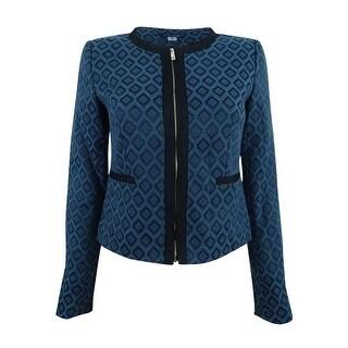 Tommy Hilfiger Women's Jacquard Zip-Front Jacket