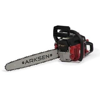 ARKSEN Gasoline Powered Chainsaw Wood Cutter 22 Inch Bar w /Aluminum Crankcase 45cc 12,000 RPMs Two Stroke