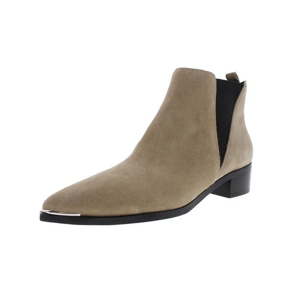 Marc Fisher Womens Yale Chelsea Boots Suede Pointed Toe