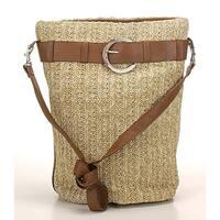 Aryana Junior Womens Beige Beach Cross Body Long Shoulder Strap Trendy Handbag - One size