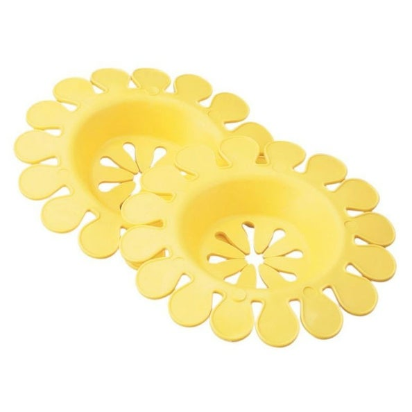 Compac 13120 Sink Daisy Lemon Scented Sink Strainer, Set Of 2