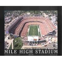''Mile High Stadium - Denver, Colorado'' by Mike Smith Stadiums Art Print (22 x 28 in.)