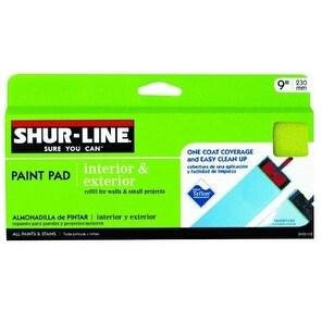 "Shur-Line 3955105 Replacement Interior & Exterior Paint Pad, 9"""