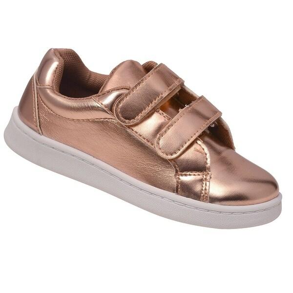 7fb9d2463de1 Shop Anne Marie Little Girls Gold Double Hook-And-Loop Strap ...