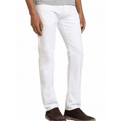 Mavi Jeans Mens Jeans Bright White Size 34 Slim Fit Skinny Leg Stretch