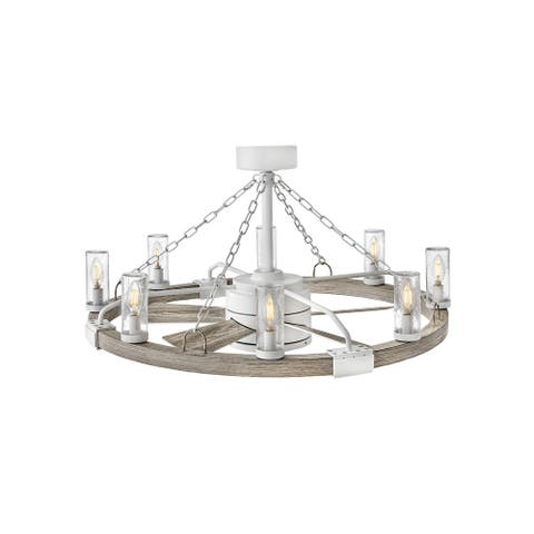 """Hinkley Sawyer 36"""" with LED Outdoor Ceiling Fan 28"""" - Matte White"""