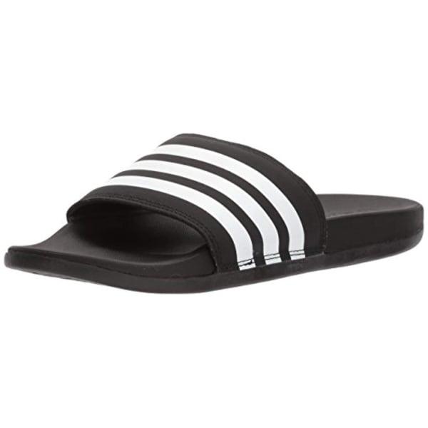 6f9f4e1bc4 Adidas Women's Adilette Cloudfoam+ Slide Sandal, White/Black, 7 M Us