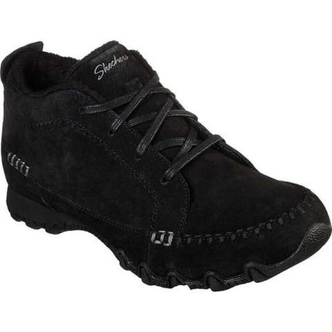 Skechers Women's Relaxed Fit Bikers Lineage Chukka Boot Black