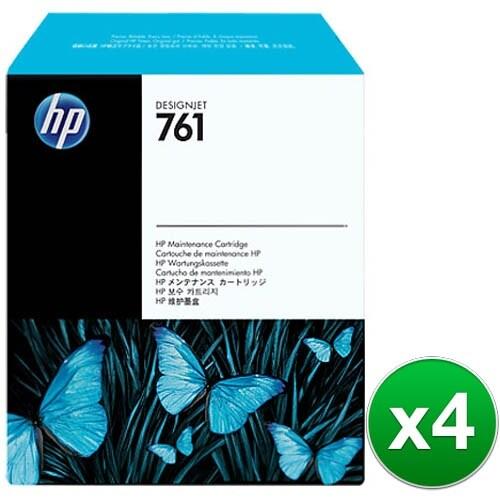 HP 761 Designjet Maintenance Cartridge (CH649A)(4-Pack)