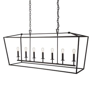 """Norwell Lighting 1083 Cage 7 Light 54"""" Wide Linear Chandelier with Steel Cage"""