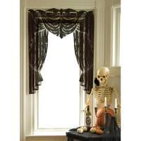 "Decorative Black Phantom Drape Halloween Window Swag Valance 38"" x 53"""