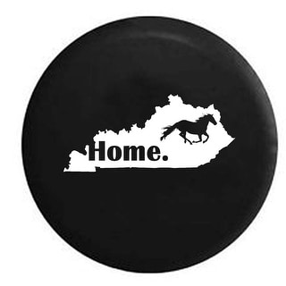 Spare Tire Cover Kentucky Horse Home State Edition