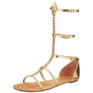 Cairo Gladiator Women's Costume Sandals, Gold