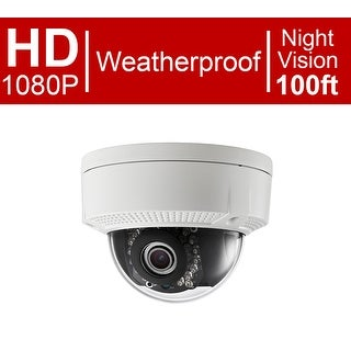 LaView 1080P 2MP IP High Resolution, Day and Night, Indoor/Outdoor, White Dome Security Camera